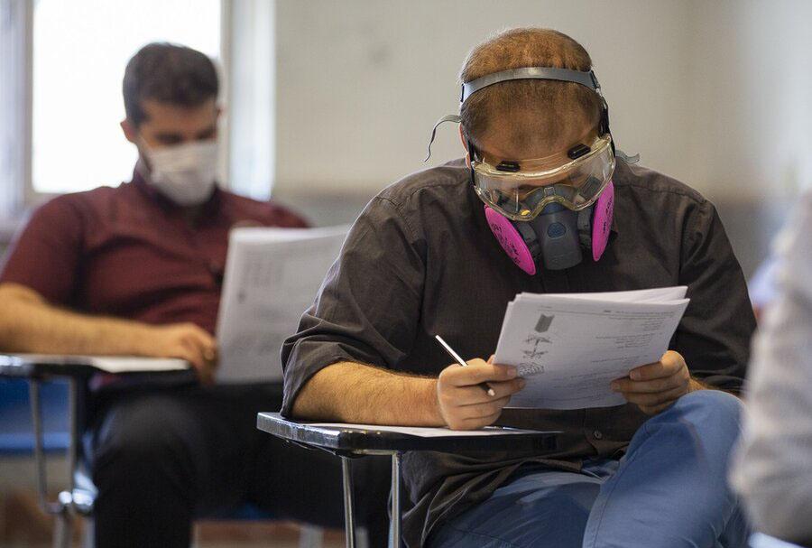 ماسک در کنکور